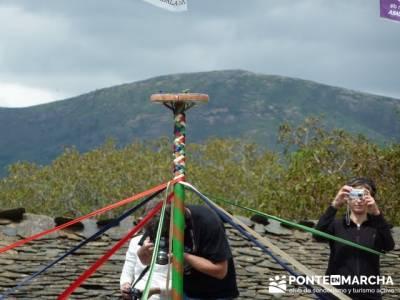 Majaelrayo - Pueblos arquitectura negra - Fiesta de los danzantes, Santo Niño; senderos del jerte